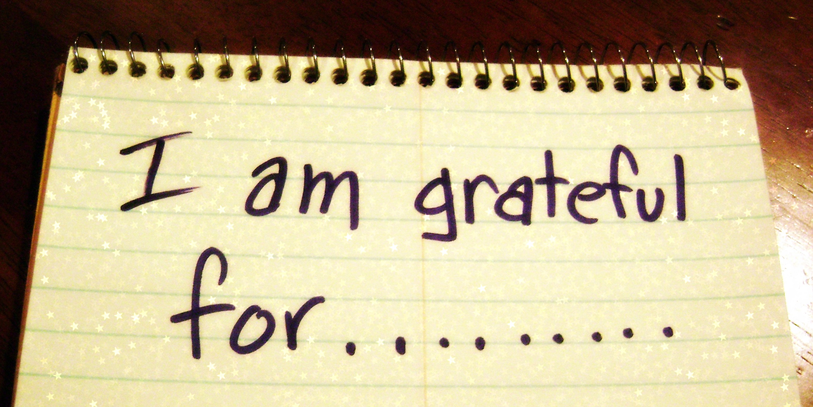 I am grateful for...